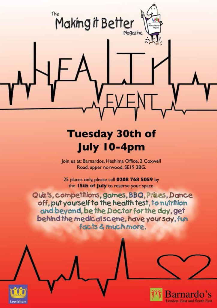 An event for the children to discover and understand what it means to be healthy and free basic check up from a wonderful nurse.